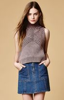 Somedays Lovin Moss Zip Front Denim Mini Skirt