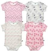 Pippi Baby Girls Body AO Printed 4 Pack Short Sleeve T-Shirt