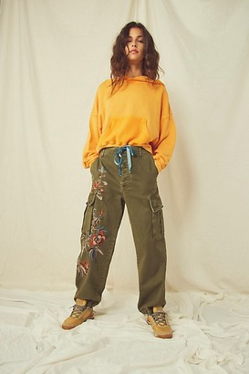 Free People Fallon Embroidered Pants