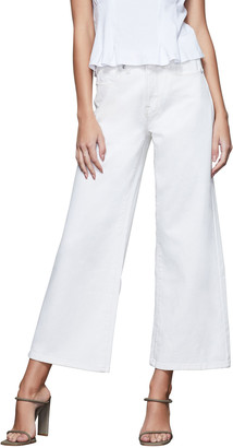 Good American Palazzo Wide-Leg Cropped Jeans