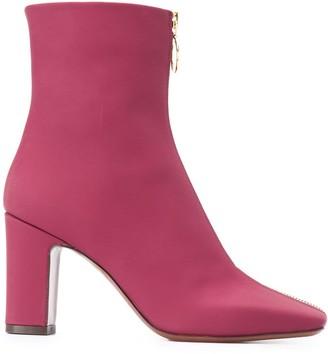 L'Autre Chose Front Zip Ankle Boots