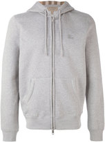 Burberry zipped hoodie - men - Cotton/Polyester - S