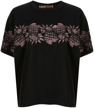 Sacai embroidered pineapple T-shirt
