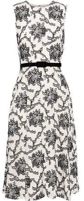 Erdem Mackenzie Belted Fil Coupe Crepe De Chine Midi Dress