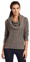 Kensie Women's Mixed Media Cowl Neck Sweater