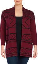 Context Plus Geometric Cotton-Blend Cardigan