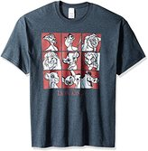 Disney Men's the Lion King Group Squares T-Shirt