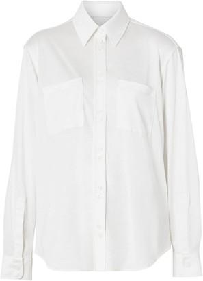 Burberry Silk oversized shirt