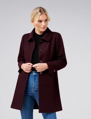 Forever New Emmy Dolly Petite Coat - Berry - 4