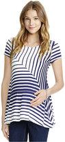Jessica Simpson Maternity Printed Short-Sleeve Top