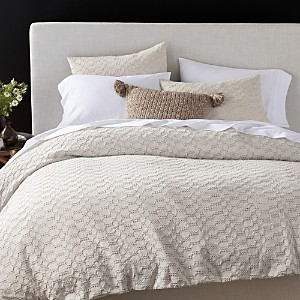 Coyuchi Organic Cotton Undyed Crystal Cove Duvet Cover, Full/Queen