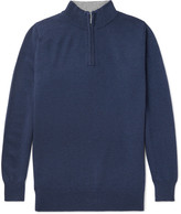 William Lockie - Cashmere Half-Zip Sweater
