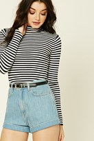 Forever 21 FOREVER 21+ Striped Mock Neck Top