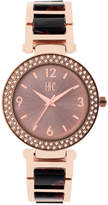 INC International Concepts Women's Black Acrylic & Rose Gold-Tone Bracelet Watch 36mm IN018RGBK, Only at Macy's