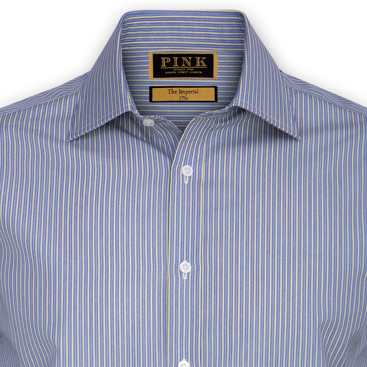 Thomas Pink Wigram Stripe Shirt - Double Cuff