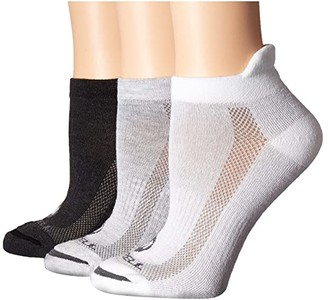 Merrell Low Cut Tab 3-Pack (Gray Heather Assorted) Women's Crew Cut Socks Shoes