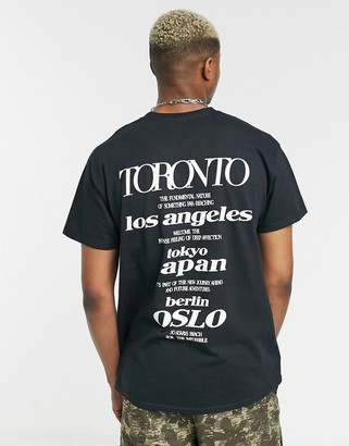 Topman t-shirt with reflective back print in black