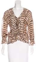 Roberto Cavalli Silk Printed Blouse