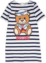 Moschino Sailor Bear Striped Milano Jersey Dress