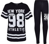 a2z4kids Girls NEW YORK BROOKLYN 98 ATHLECTIC Camouflage Print Top & Legging Set 7-13 Yr