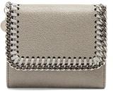 Stella McCartney Falabella flap square faux-suede wallet