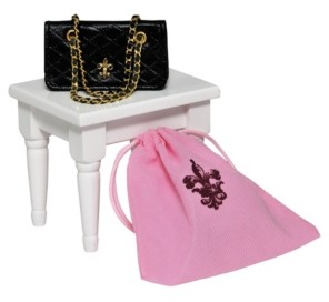 """The Queen's Treasures 18"""" Doll Clothes Accessories, Quilted Designer Handbag Purse"""