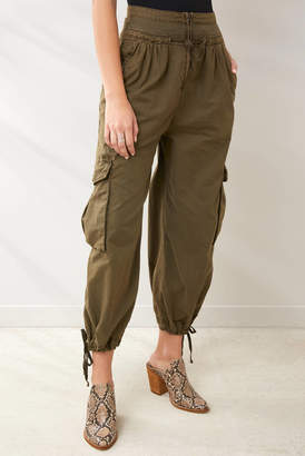 Free People Fly Away Parachute Pant Olive 0