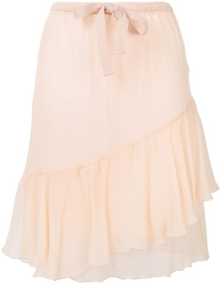 See by Chloe Silk-Chiffon Skirt