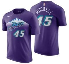 Nike Utah Jazz Donovan Mitchell Men's Hardwood Classic Name and Number T-Shirt