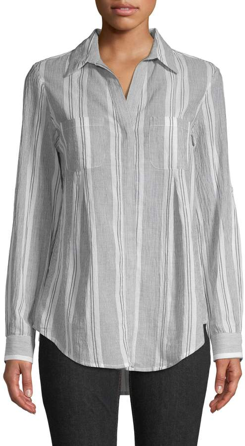 Lord & Taylor Striped Cotton Button-Down Shirt