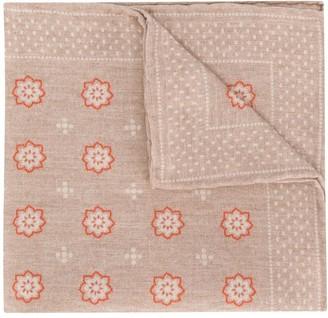 Eleventy Floral-Print Pocket Square