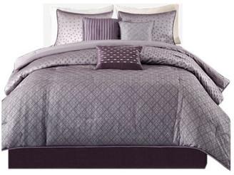 Madison Home USA Jacquard 7-Piece Comforter Set, Queen