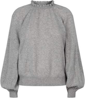 Frame Cashmere Ruffle Neck Sweater