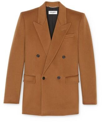 Saint Laurent Wool-Cashmere Tailored Jacket