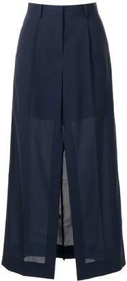 Sacai Semi-Sheer Front Split Skirt