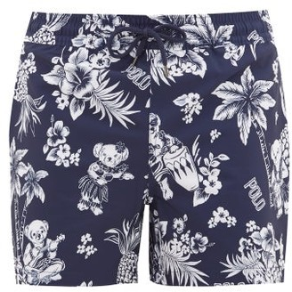 Polo Ralph Lauren Hawaiian-print Swim Shorts - Navy Multi