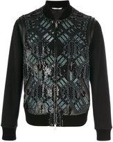 Valentino sequined bomber jacket - men - Cotton/Lamb Skin/Polyamide/Wool - 48