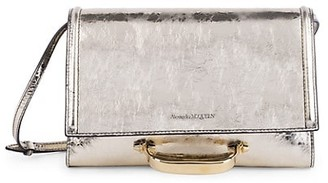 Alexander McQueen Small The Story Metallic Leather Bag