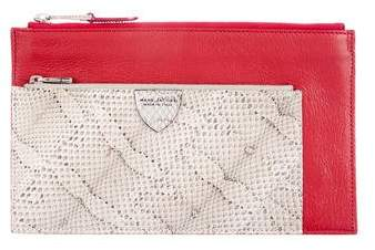 Marc Jacobs Snakeskin-Trimmed The Doll Clutch