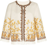 Andrew Gn Sequin Embroidered Linen Jacket