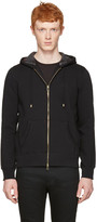Burberry Black Claredon Zip Hoodie