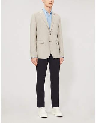 Ted Baker Balrom herringbone-patterned slim-fit woven blazer