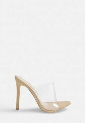 Missguided x Nude Pointed Clear Mules