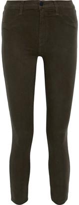 J Brand 485 Tencel-blend Sateen Skinny Pants