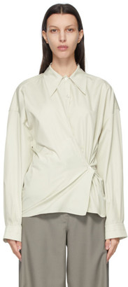Lemaire Green Twisted Shirt