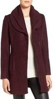 CeCe Women's Josie Shawl Collar Asymmetrical Boucle Coat