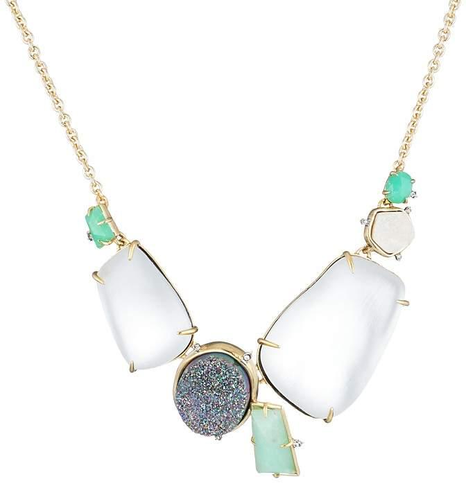 "Alexis Bittar Stone Cluster Bib Necklace, 16"""