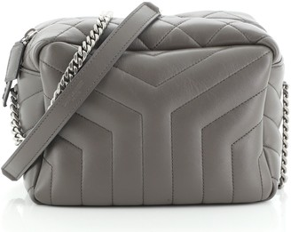 Saint Laurent LouLou Bowling Bag Matelasse Chevron Leather Small