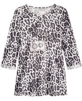 GUESS 3/4 Sleeve Cheetah-Print Top, Big Girls (7-16)