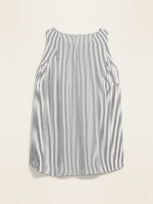Old Navy Striped High-Neck Plus-Size Sleeveless Swing Top